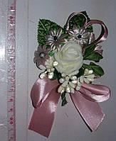 Свадебная бутоньерка (розовая) МЛ-01-грр