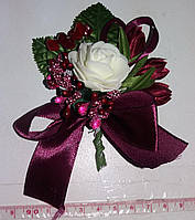 Свадебная бутоньерка (марсала/бургундия) МЛ-01-мар