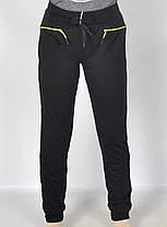 Брюки спортивные женские трикотажные под манжет XL Черный, фото 2