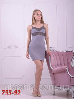 Женская ночная рубашка из вискозы приталенная