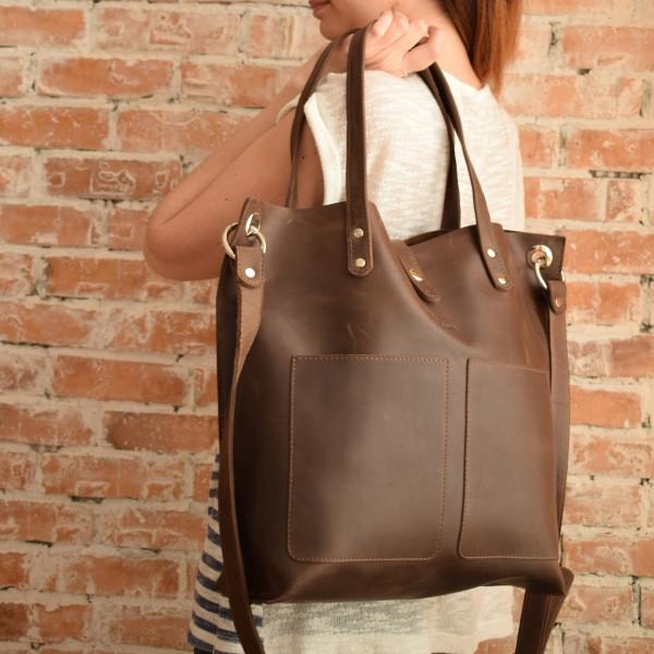 Вместительная женская сумка-shopper   BB-857251   Crazy Horse - Sollomia -  интернет 87310c33864