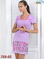 Женская ночная сорочка с цветами из вискозы