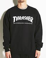Мужской свитшот (реглан) Thrasher, трешер черный