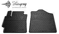 Резиновые коврики Toyota Camry V40 2006- Комплект из 2-х ковриков Черный в салон. Доставка по всей Украине. Оплата при получении