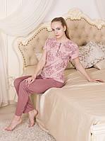 """Комплект домашней одежды с брюками из коллекции """"Rose Garden"""" (вискоза)"""