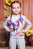 Красивый трикотажный свитшот на девочку