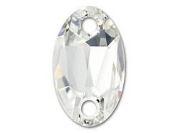 3231 Owlet 23x14 mm, Crystal (001)