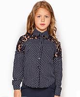 Детская блузка с кружевом