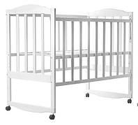 Кровать Зайчонок Клен (Опускание Боковушки, Качалка) Крашенная белая