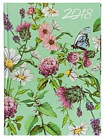 Ежедневник А5 датированный 2018 Buromax Estilo, салатовый, BM.2165-15