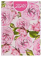 Ежедневник А5 датированный 2018 Buromax Estilo, розовый, BM.2165-10