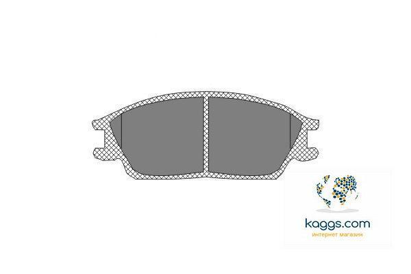 DBB 224.00 Тормозные колодки (передние) HYUNDAI 5810124A00, SUBARY 725193011