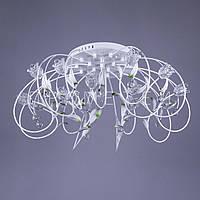 LED люстра с диодной подсветкой (лампочки в комплекте). P5-Y0774/16/WT HIGH