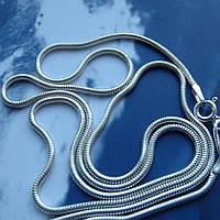 Серебряная цепочка, 550мм, 4,4 грамма, плетение Снейк