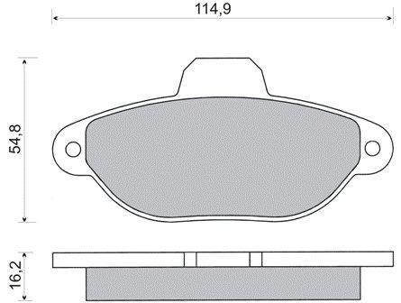 DBB 247.00 Тормозные колодки (передние) FIAT 46565733, LANCIA 9947468