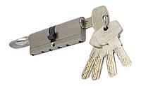 PALADII циліндровий механізм латунний з вставкою 90мм Т (45*45) з вертушком. 5 гібридних ключа сатен