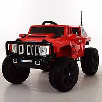 Детский электромобиль HUMMER BTL 388 на резиновых колёсах, кожа, красный