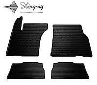 Резиновые коврики Stingray Стингрей Мерседес Бенц W163 МЛ 1997- Комплект из 4-х ковриков Черный в салон