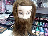 Голова для моделирования причесок с бородой
