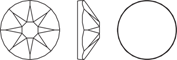 Клеевые стразы 2088 XIRIUS Rose [SS12-SS48]