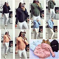 Куртка на резинке с манжетами, короткая, синтепон 150