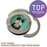 Держатель для сумки Кот со стаканом / компактный сумкодержатель