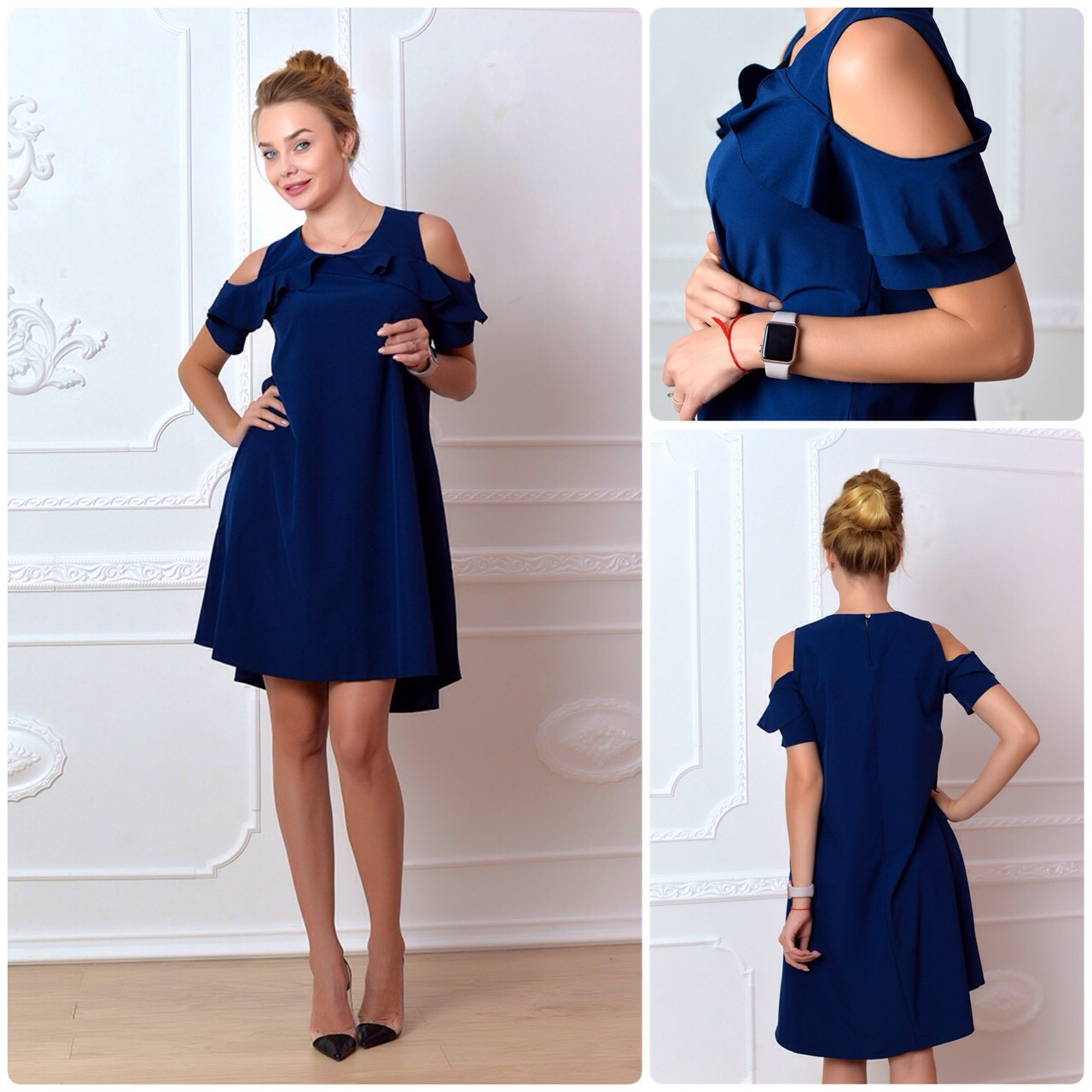 Платье 785 темно синий