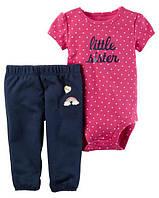 Набор для девочки (штанишки и бодик-футболка) арт.121Н689 (Carters)