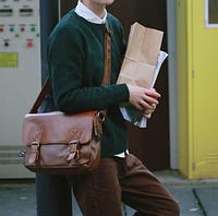 Мужская кожаная сумка. Модель 61223, фото 4