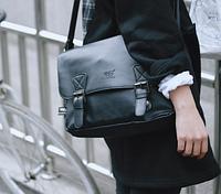 Мужская кожаная сумка. Модель 61223, фото 3