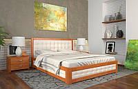 Кровать РЕНАТА-М с подъемным механизмом, с мягким изголовьем, из натурального дерева, Арбор Древ