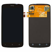 Дисплей (экран) для HTC Z560e One S G25/Z520e/Z320e + с сенсором (тачскрином) черный Оригинал