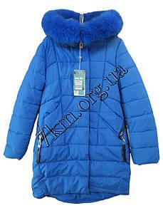 Куртка детская для девочек 140-164 см. синяя Китай Оптом Li 1166