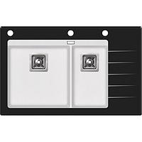 Мойка кухонная стеклянная 860x540x190 черная
