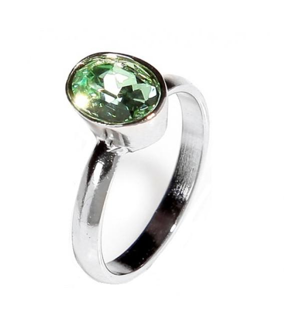 """Кольцо """"Канопус"""" с кристаллами Swarovski, покрытое родием (b025f030)"""
