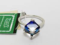 Серебряное кольцо Кубик Сваровски Украина