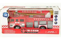 Пожарная машина инерционная звук сирены, подвижные элементы