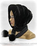 Капор платок норковый (черный)