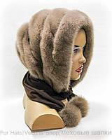 Норковый капор платок (пастель)