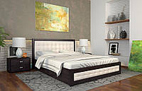Кровать РЕНАТА-Д с подъемным механизмом, с мягким изголовьем, из натурального дерева, Арбор Древ