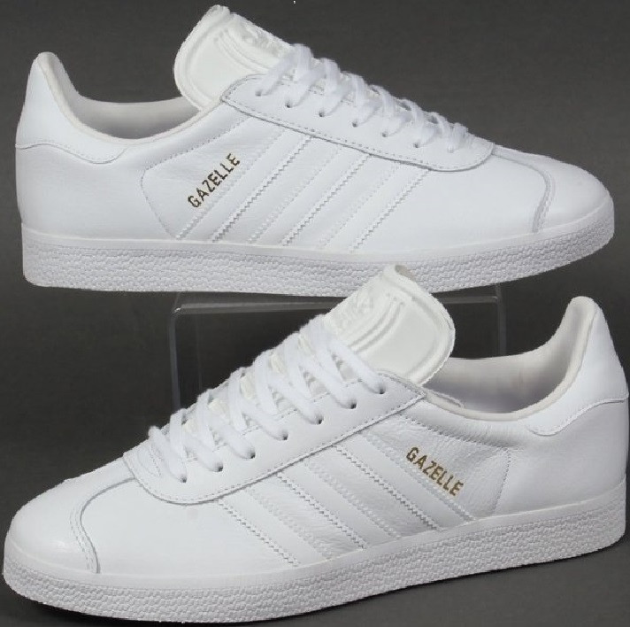 2dbf2991 Белые кроссовки Adidas Gazelle Leather Trainers White в магазине  tehnolyuks.prom.ua 096-