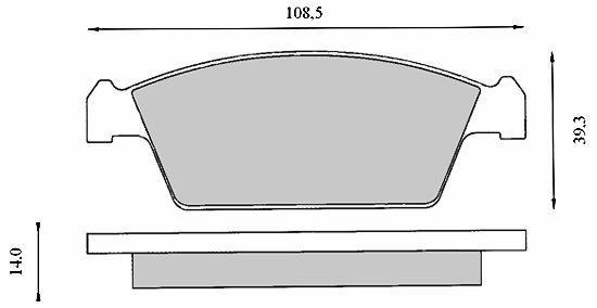 DBB 459.00 Тормозные колодки (передние) DAEWOO 5521050E20, SUZUKI A00133625