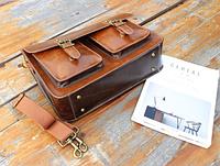 Мужская кожаная сумка. Модель 61228, фото 3