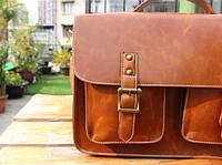 Мужская кожаная сумка. Модель 61228, фото 2