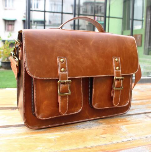 Мужская кожаная сумка. Модель 61228