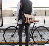 Мужская кожаная сумка. Модель 61228, фото 5