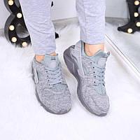 Кроссовки женские Nike Huarache серые 4036 спортивная обувь