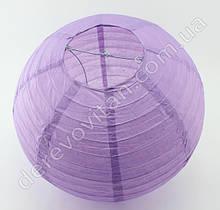 Бумажный подвесной фонарик, сиреневый/лавандовый, 30 см