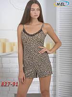 Комплект женский из вискозы леопардовый