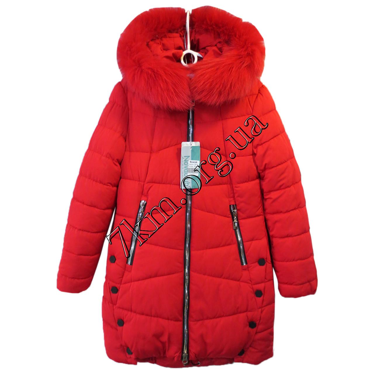 392361ca07a Куртка детская для девочек 140-164 см. красная Китай Оптом Li 1161 ...